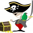 Pirate illustration - Stock Vector