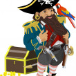 Pirate illustration — Stock Vector