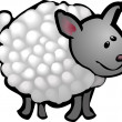 Cute sheep illustration - Stock Vector