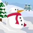 Snowman illustration - Stock Vector