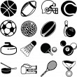 Stock Vector: Sports icon set