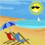 Summer holiday illustration — Stock Vector #6575200