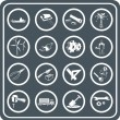 Tools and industry icon set - Stock Vector