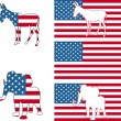 Постер, плакат: USA political party symbols