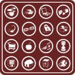 Royalty-Free Stock Vector Image: Web and Computing icons
