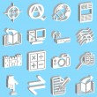 Royalty-Free Stock Vector Image: 3D Internet web icon series set