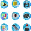 Internet web icons - Stock Vector