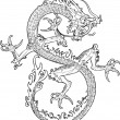 Dragon illustration - Stock Vector