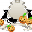 Halloween shield illustration - Stock Vector