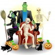Royalty-Free Stock Vector Image: Halloween group illustration