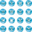 Internet and computing media icons - Stockvektor