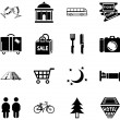 Location tourism icons — Stock Vector
