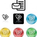 Почта или messge значок символ — Cтоковый вектор