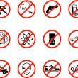 No Icons - Stock Vector