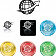 Wire Globe Icon Symbol - Stock Vector