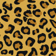 Seamless tiling animal print pattern leopard skin — Vector de stock