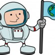 Illustration of astronaut - Stock Vector