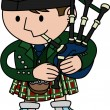 Illustration of bagpiper - Stock Vector