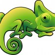 Cute Chameleon Vector Illustration - Stock Vector