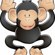 Cute Chimp Vector Illustration — Stock Vector #6576552