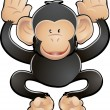 Cute Chimp Vector Illustration — Stock Vector