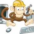 Stock Vector: Construction monkey