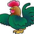 Vector de stock : Cute Rooster Farm Animal Vector Illustration