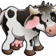 Cute Dairy Cow Vector Illustration — Stock Vector