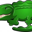 Cute Alligator or Crocodile Cartoon — Stock Vector