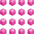Network Computing Cube Icons Series Set. — Stock Vector #6576573