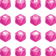 Applications Cube Icon Series Set — Stock Vector