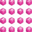 Royalty-Free Stock Vector Image: Security and E-Commerce Cube Icon Set Series