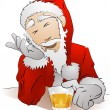 Illustration of drunk Santa Claus — Stock Vector