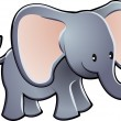 Lovable Elephant Cartoon Vector Illustration — Stock Vector