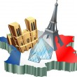 Stock Vector: French tourism