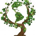 Green world tree vector illustration — Stock Vector