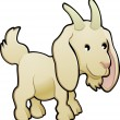 ストックベクタ: Cute Goat Farm Animal Vector Illustration