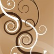 Royalty-Free Stock Immagine Vettoriale: Heart swirls abstract background