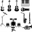 Stock Vector: Musical Instrument Icon Set