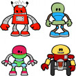 Illustration of little robots — Stock Vector