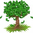 Money growing on tree — Stock Vector