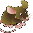 Cute Mouse Vector Illustration — Stock Vector