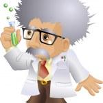 Nutty Professor — Stock Vector