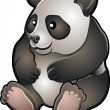 Cute Friendly Panda Vector Illustration - Stock Vector