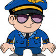 Stock Vector: Illustration of pilot