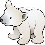 Cute Polar Bear Vector Illustration — Stock Vector