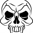 Illustration of a skull — Vector de stock #6576843