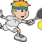 Постер, плакат: Illustration of male tennis player