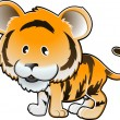 Royalty-Free Stock Vector Image: Cute Tiger Vector Illustration
