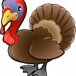 Vector de stock : Cute Turkey Farm Animal Vector Illustration